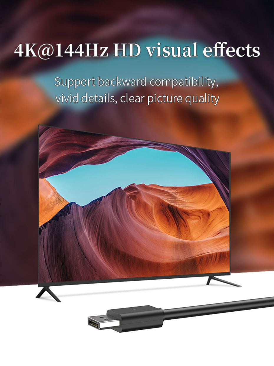 DisplayPort cable/DP cable supports 4K@144Hz resolution