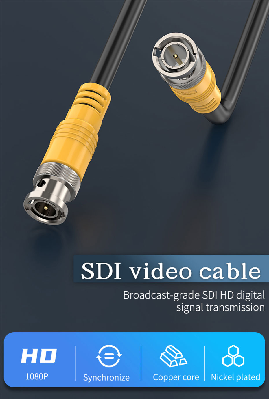 SDI cable for large screen and monitoring engineering