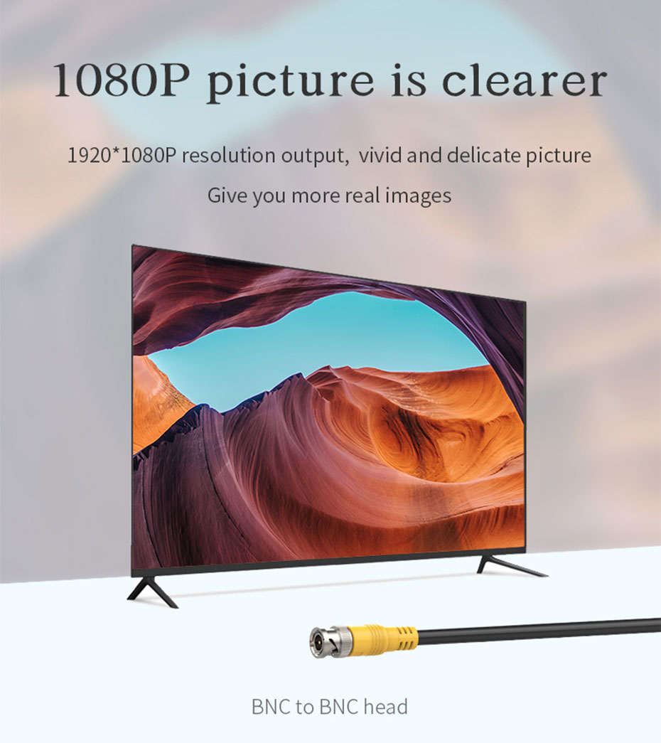 The engineering dedicated SDI cable adopts BNC to BNC interface and supports 1080p resolution
