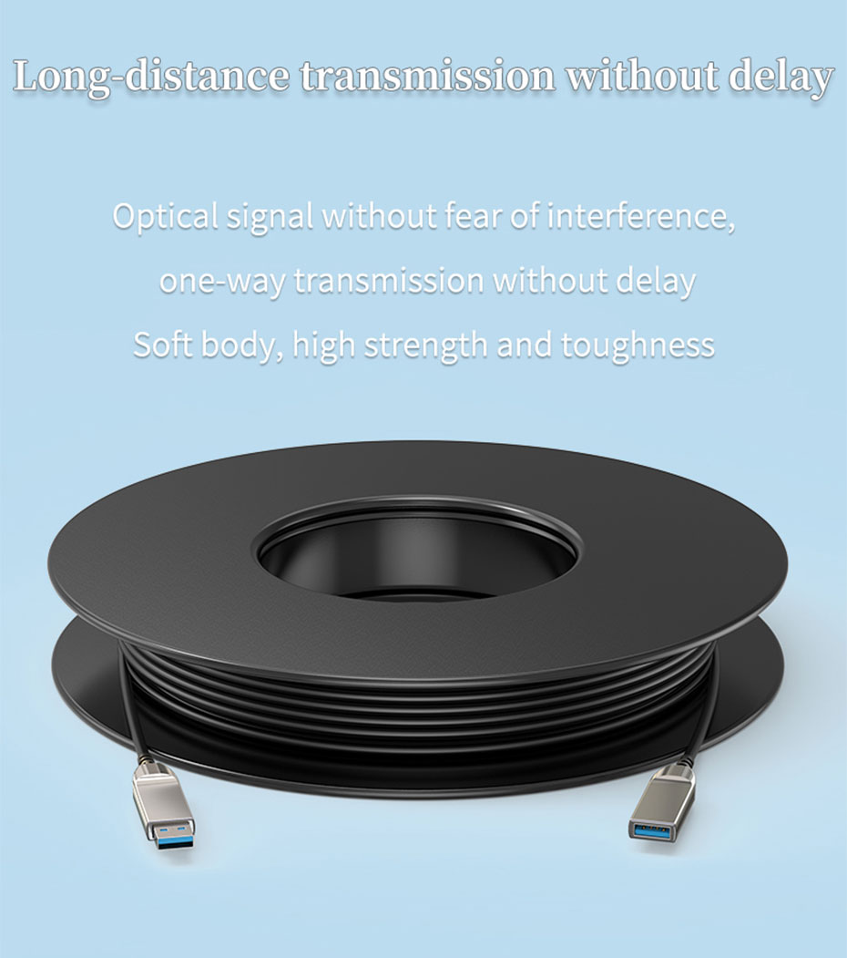 USB3.0 optical fiber extension cable is anti-electromagnetic interference, one-way transmission without delay