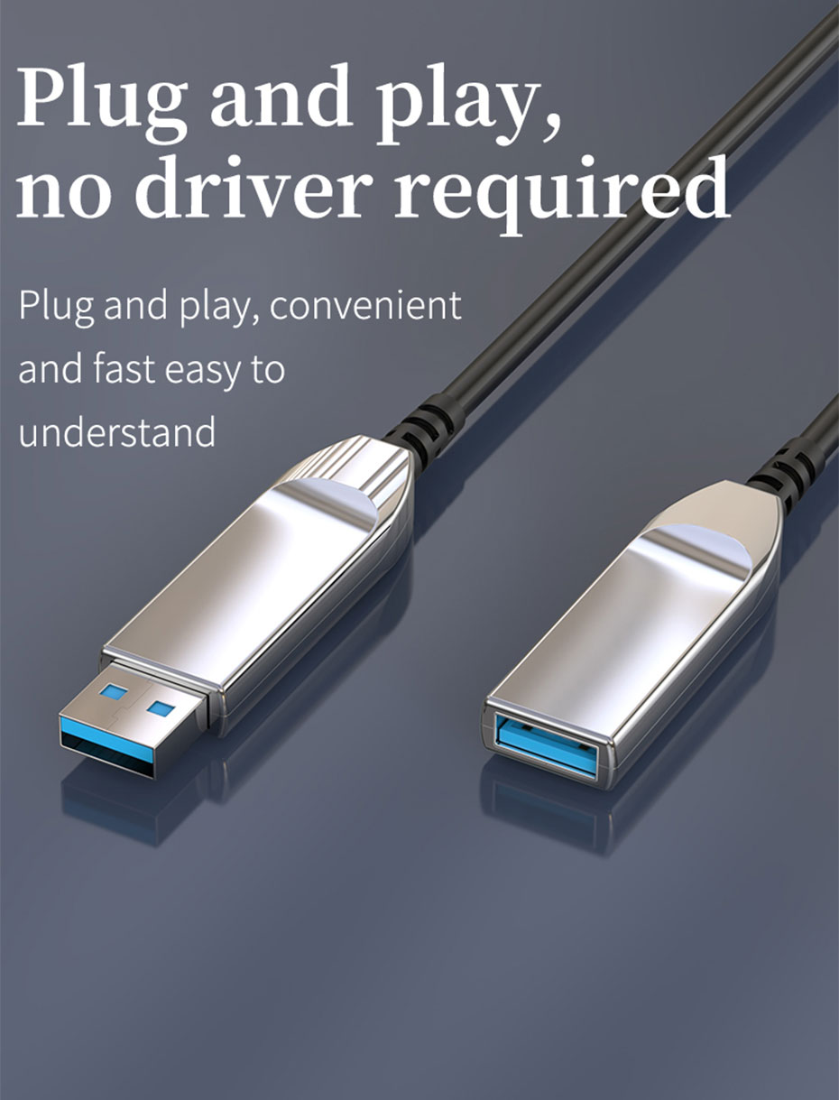 USB3.0 optical fiber extension cable plug and play, no driver required