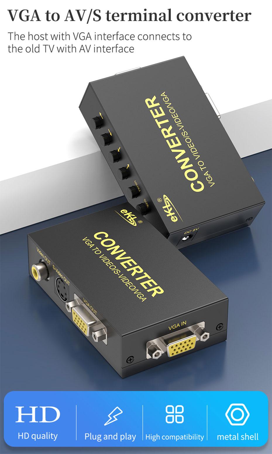 VGA to AV/S terminal/BNC converter 1801