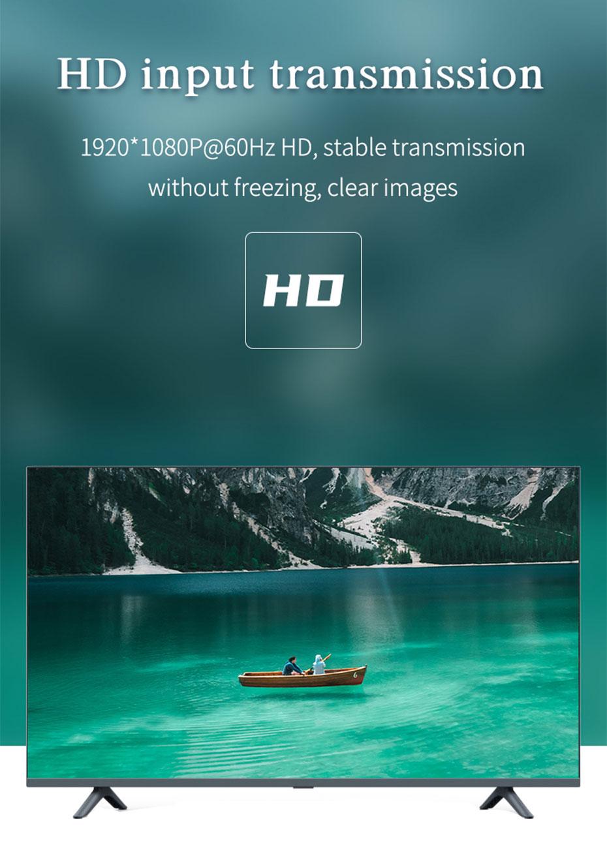 VGA to AV/S terminal/BNC converter 1801 supports 1920*1080p@60Hz resolution