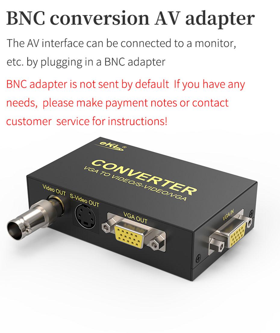 VGA to AV/S terminal/BNC converter 1801 does not send BNC connector by default