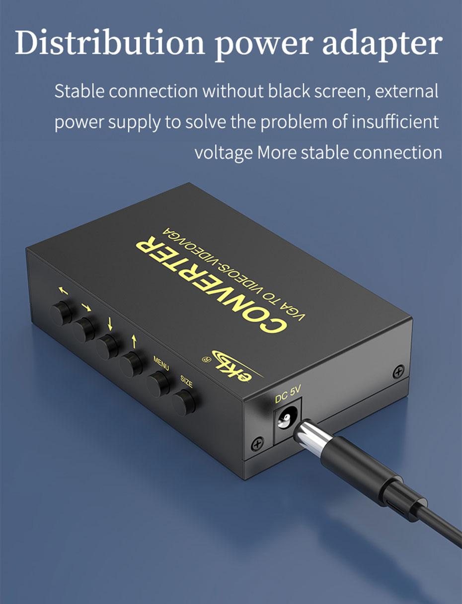 VGA to AV/S terminal converter 1801 distribution power adapter