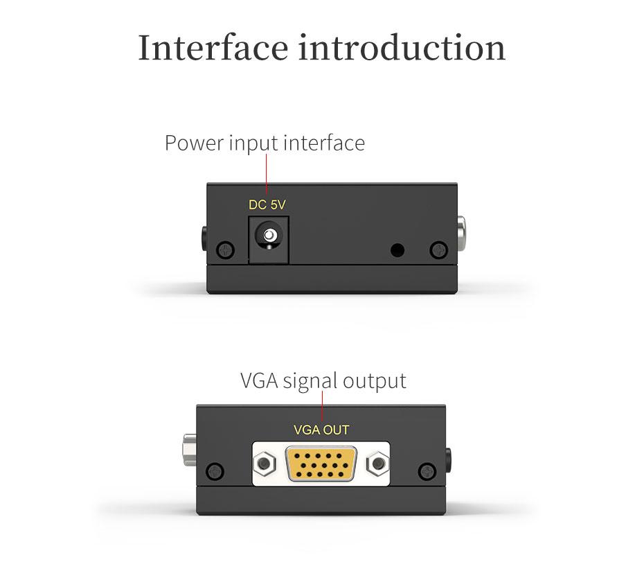 AV/BNC/S-Video to VGA converter 1802 interface introduction
