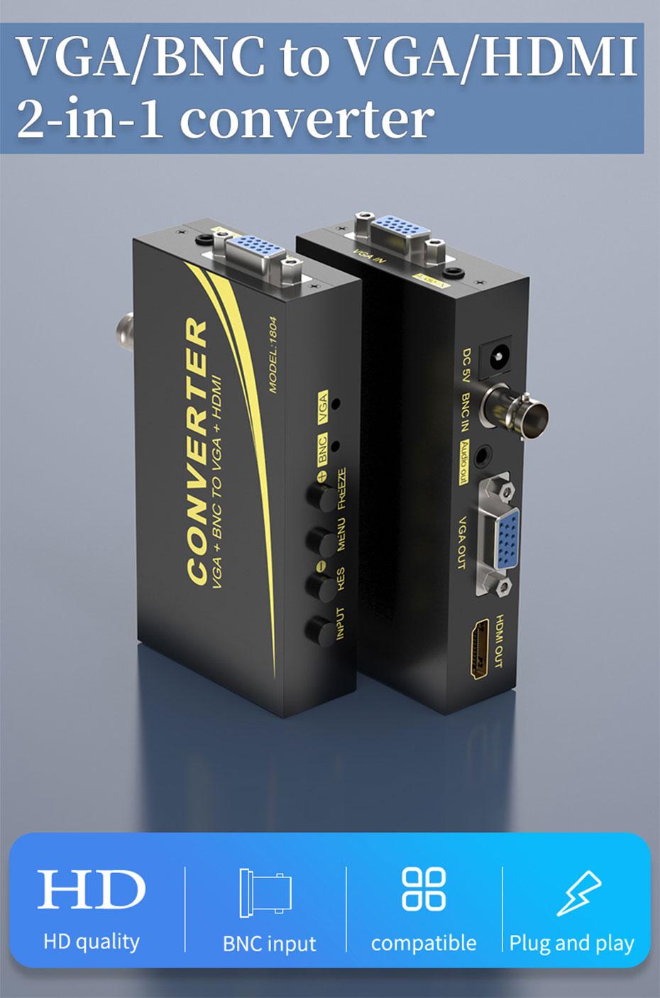 VGA/BNC to HDMI converter 1804