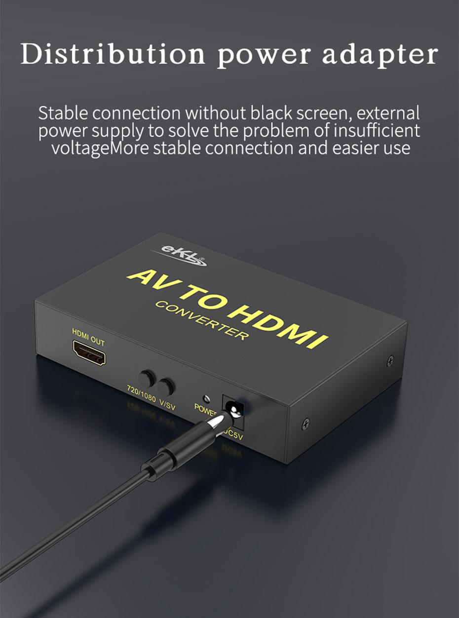 S-Video/AV to HDMI converter AVH distribution original power supply