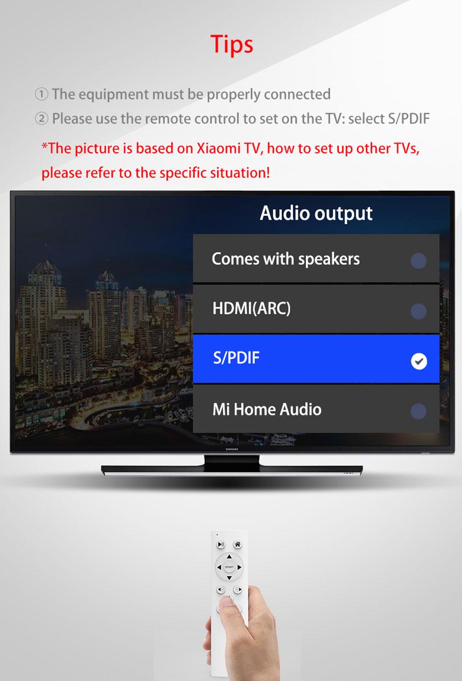 SPDIF digital audio converter DAM TV Digital Audio Output Settings