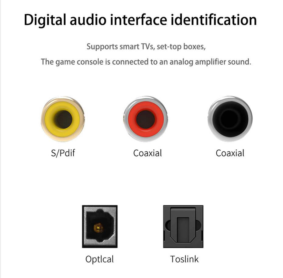 SPDIF digital audio converter DAM supports digital audio interface recognition