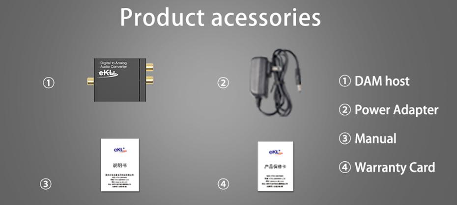 SPDIF digital audio converter DAM standard accessories