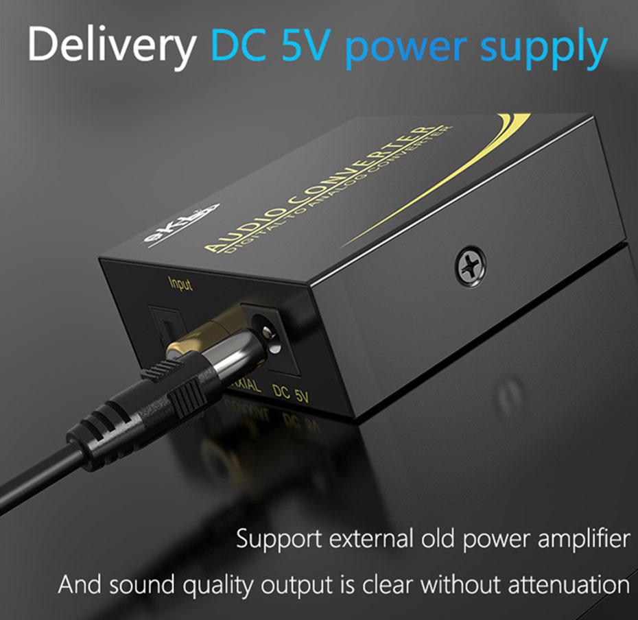 Digital to analog converter DAN distribution power supply