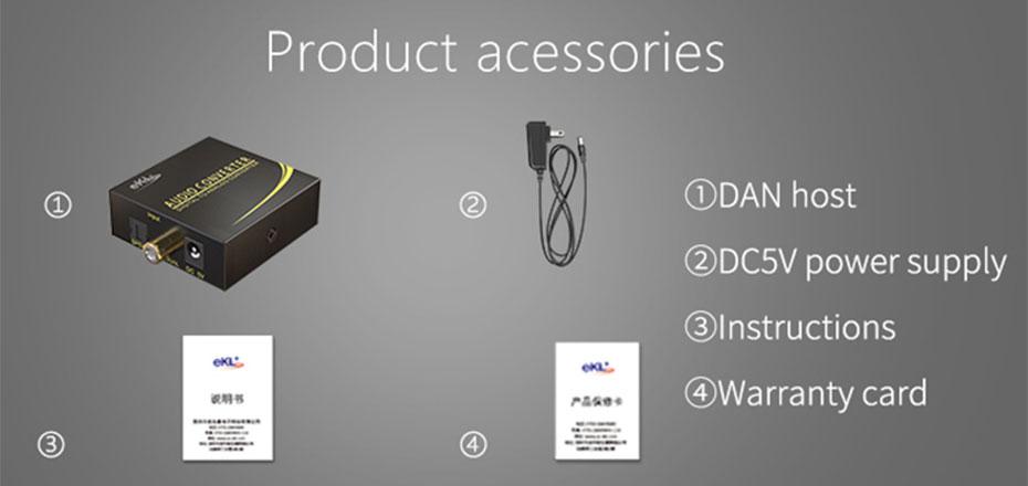 Digital to analog converter DAN standard accessories