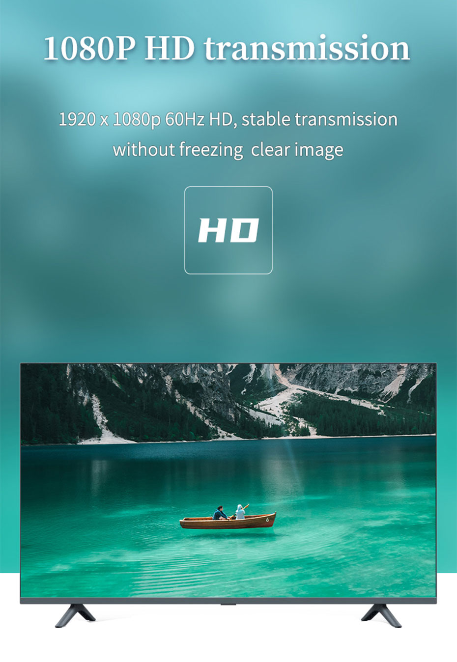 DP to HDMI converter DH supports 1920*1080p@60Hz HD resolution