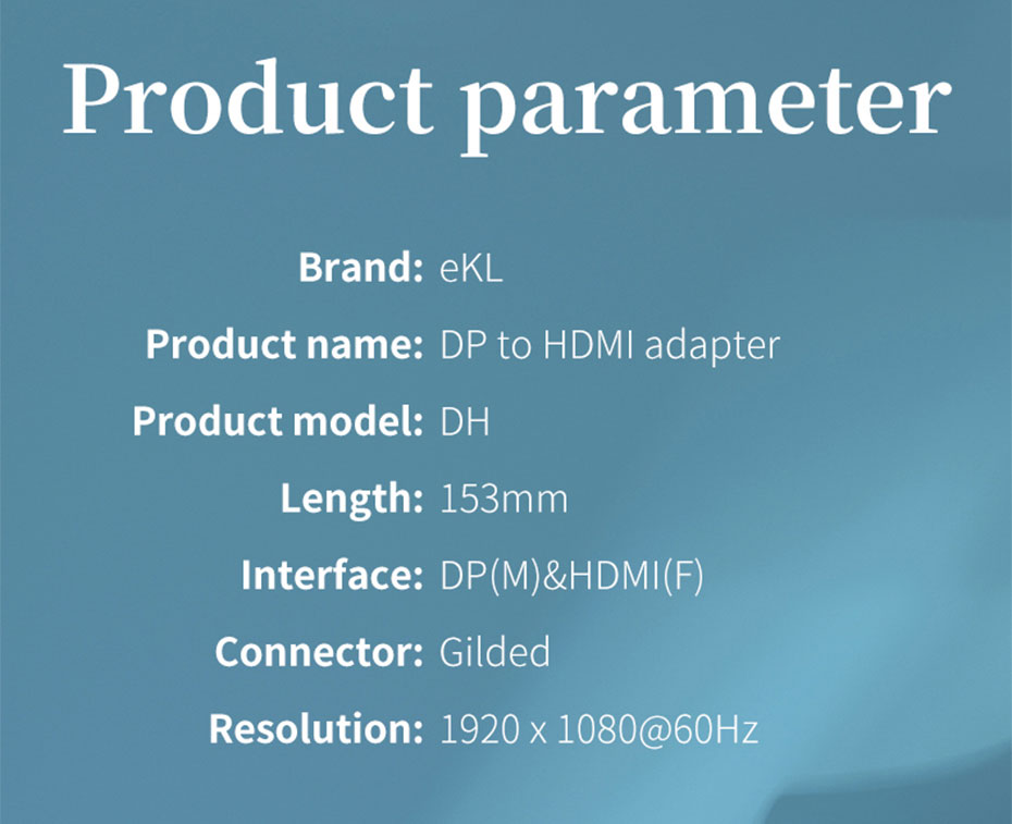DP to HDMI converter DH specifications