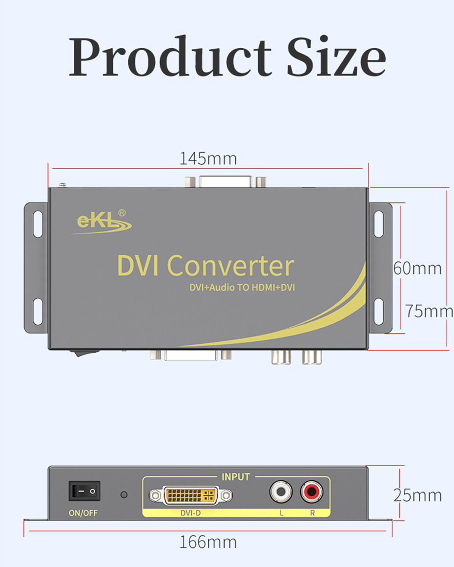 DVI to HDMI converter DHA specifications