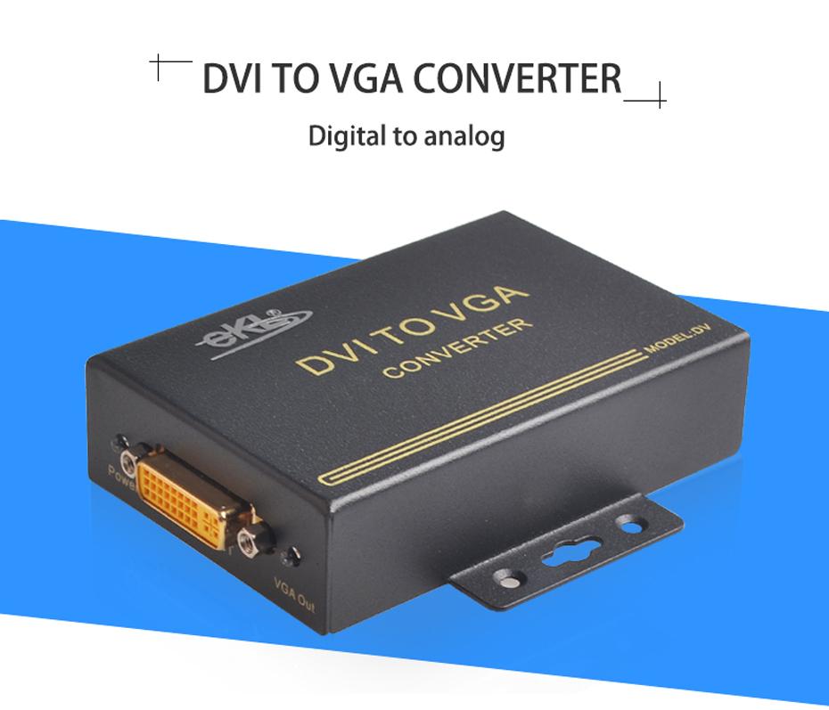 Digital to analog DVI to VGA converter DV
