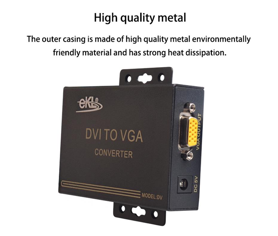 DVI to VGA converter DV uses metal body design