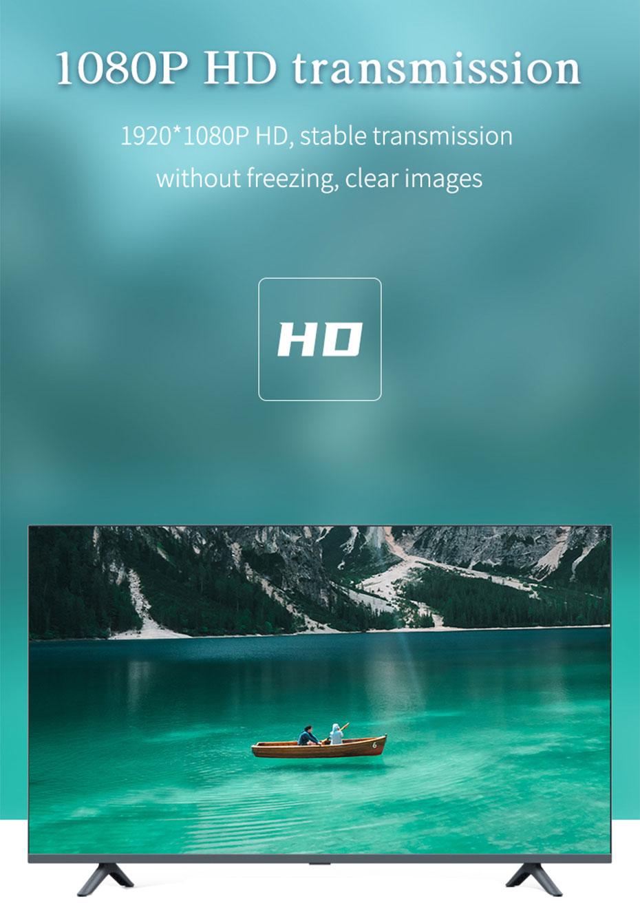 HDMI to AV converter HAV supports 1920*1080p HD resolution