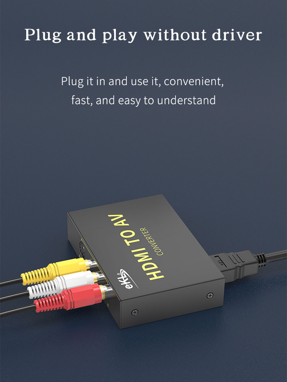 HDMI to AV converter HAV plug and play without driver installation