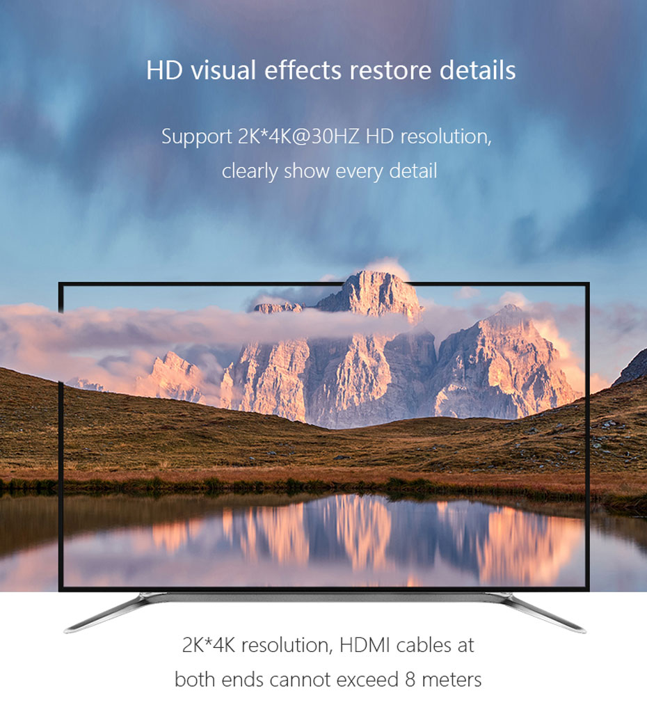 HDMI audio splitter HHA supports 2k*4k@30Hz resolution