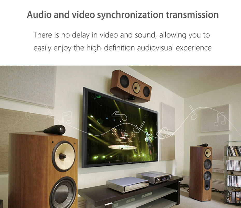 HDMI audio splitter HHA supports simultaneous audio and video transmission