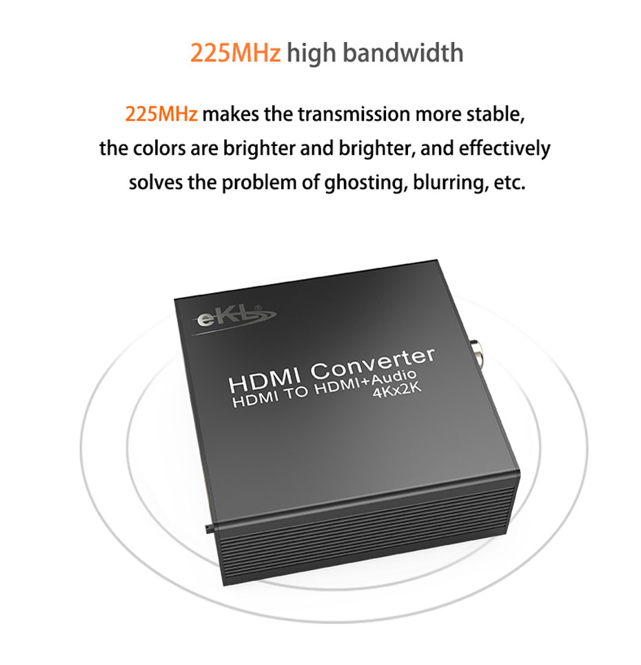 HDMI audio splitter HHA supports 225MHz high bandwidth