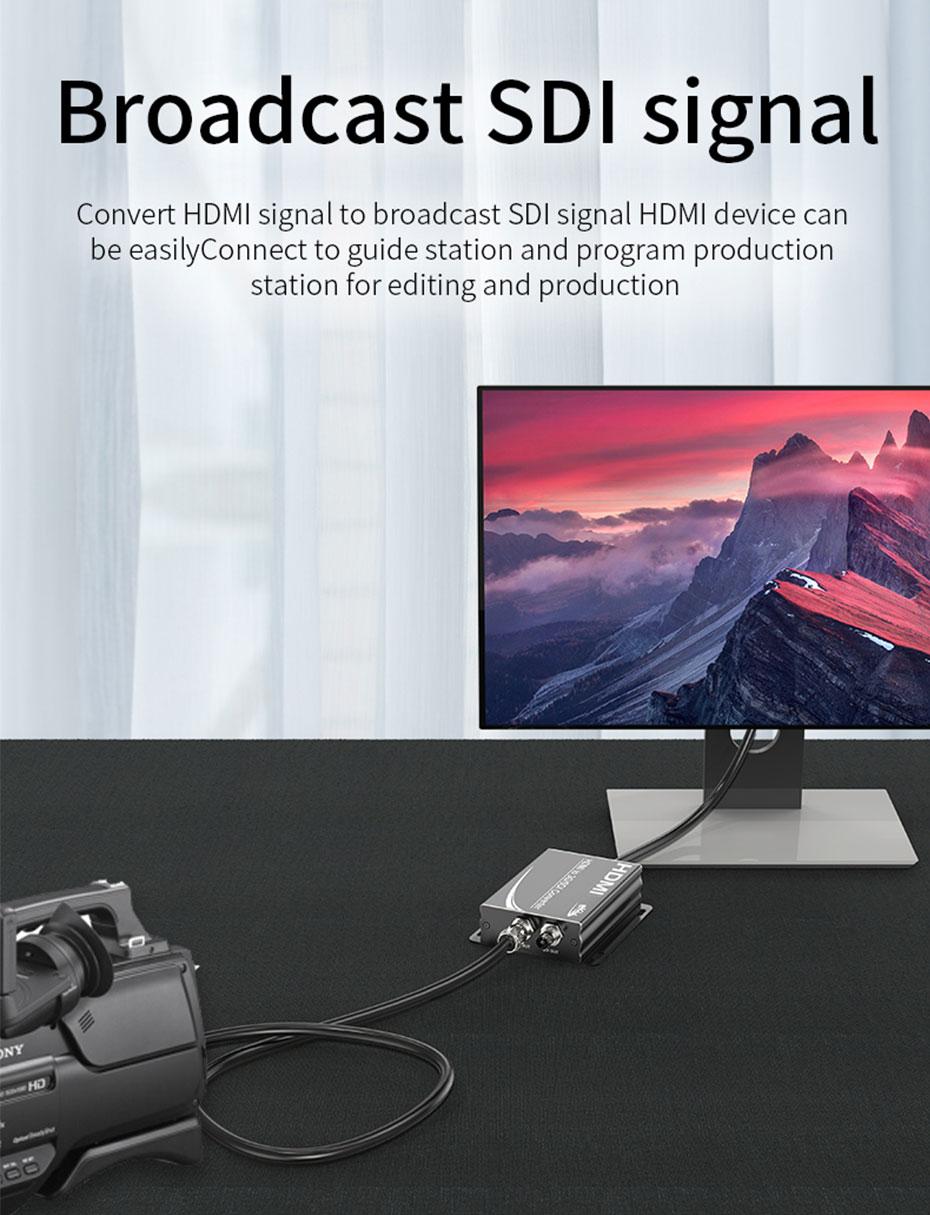 HDMI to SDI converter HSD supports broadcast grade SDI signal