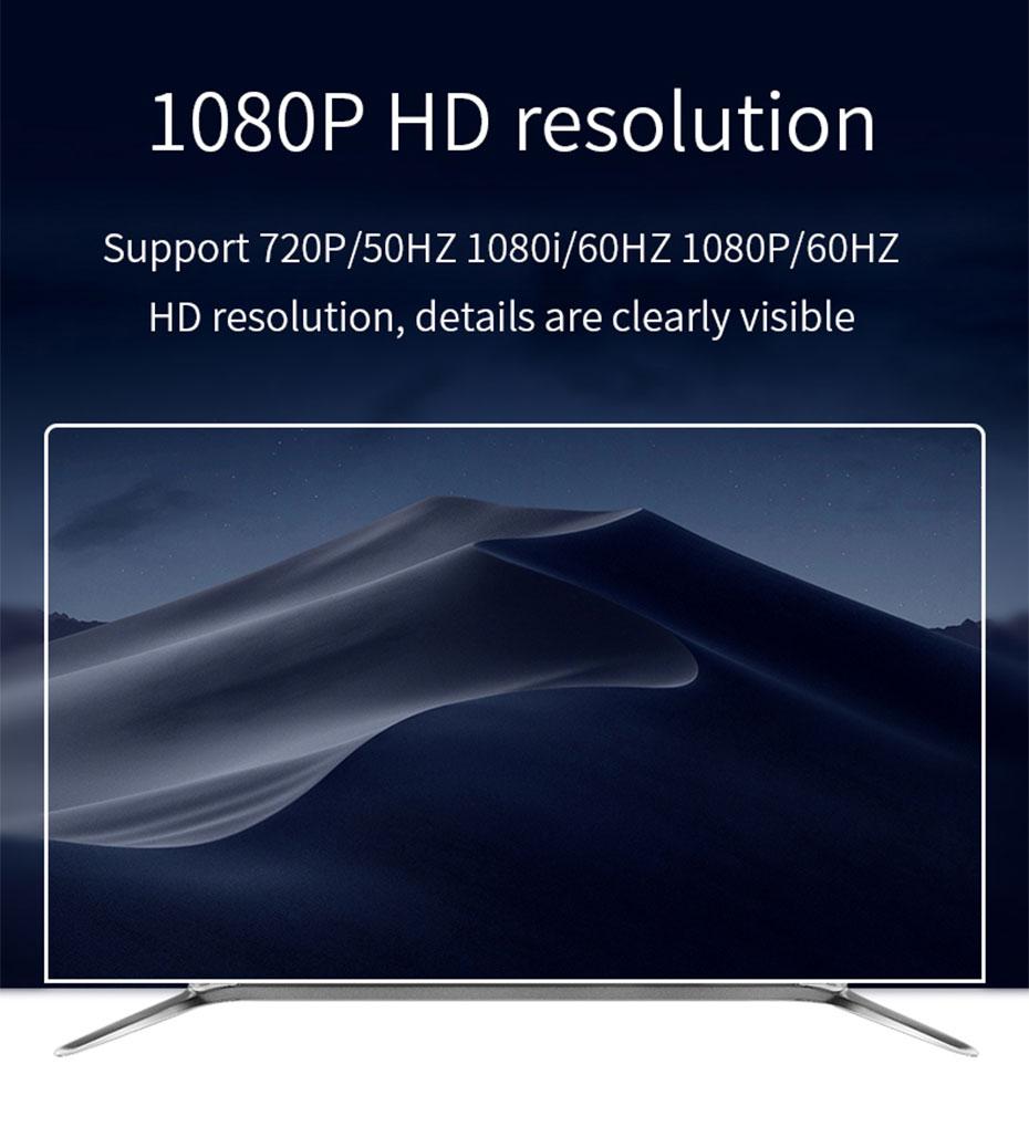 HDMI to SDI converter HSD supports 1080i@60Hz, 1080p@60Hz resolution