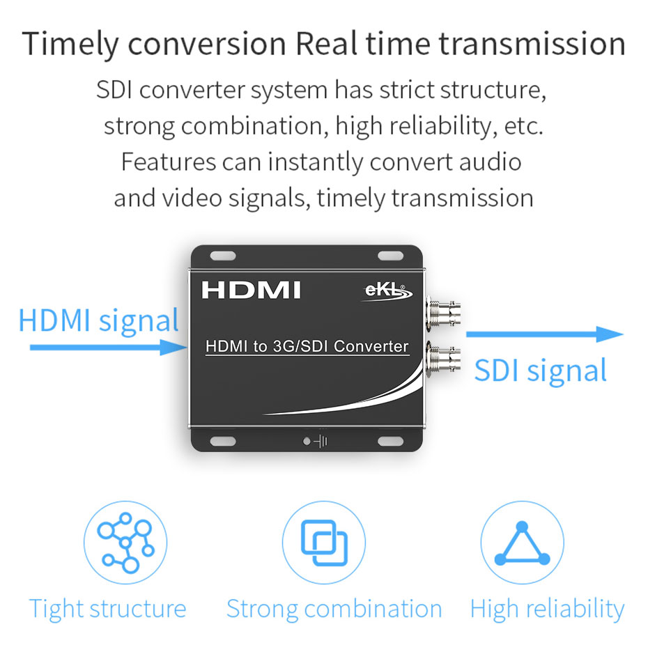 HDMI to SDI converter HSD supports timely conversion and real-time transmission
