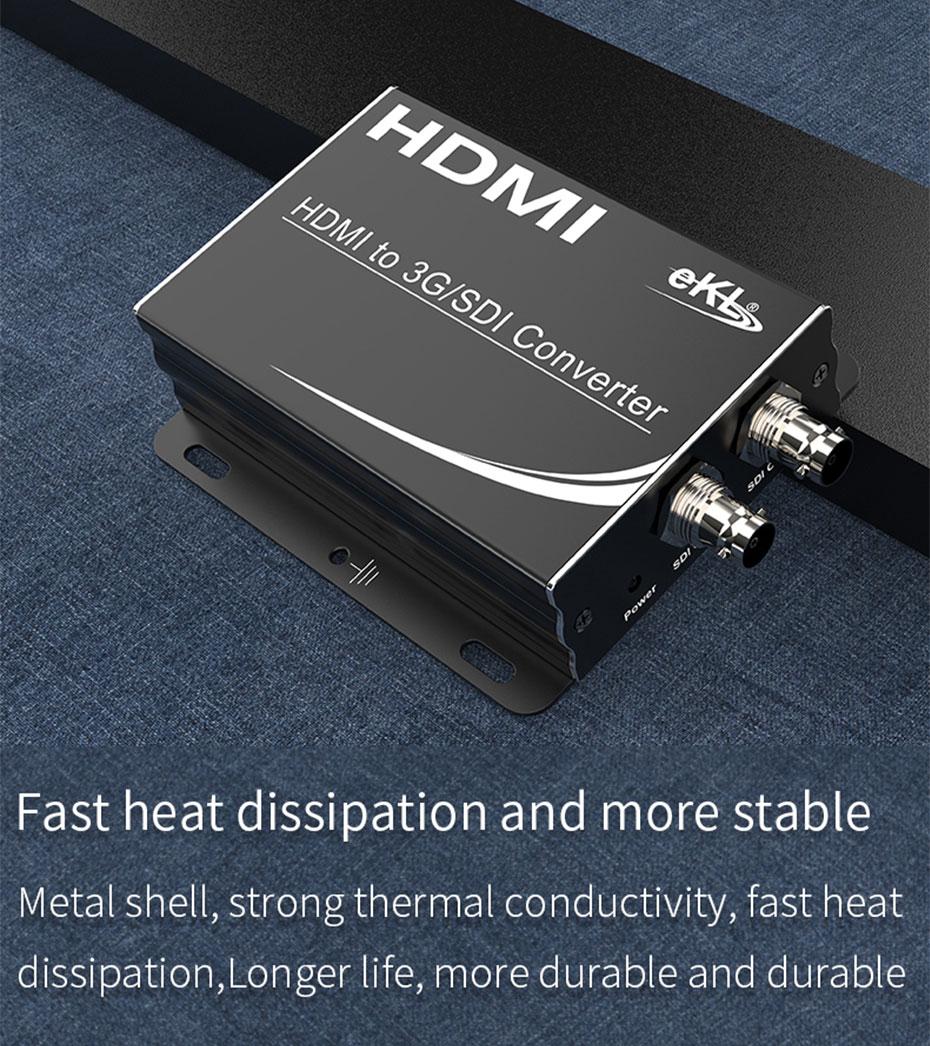 HDMI to SDI converter HSD adopts metal body design, supports local loop display