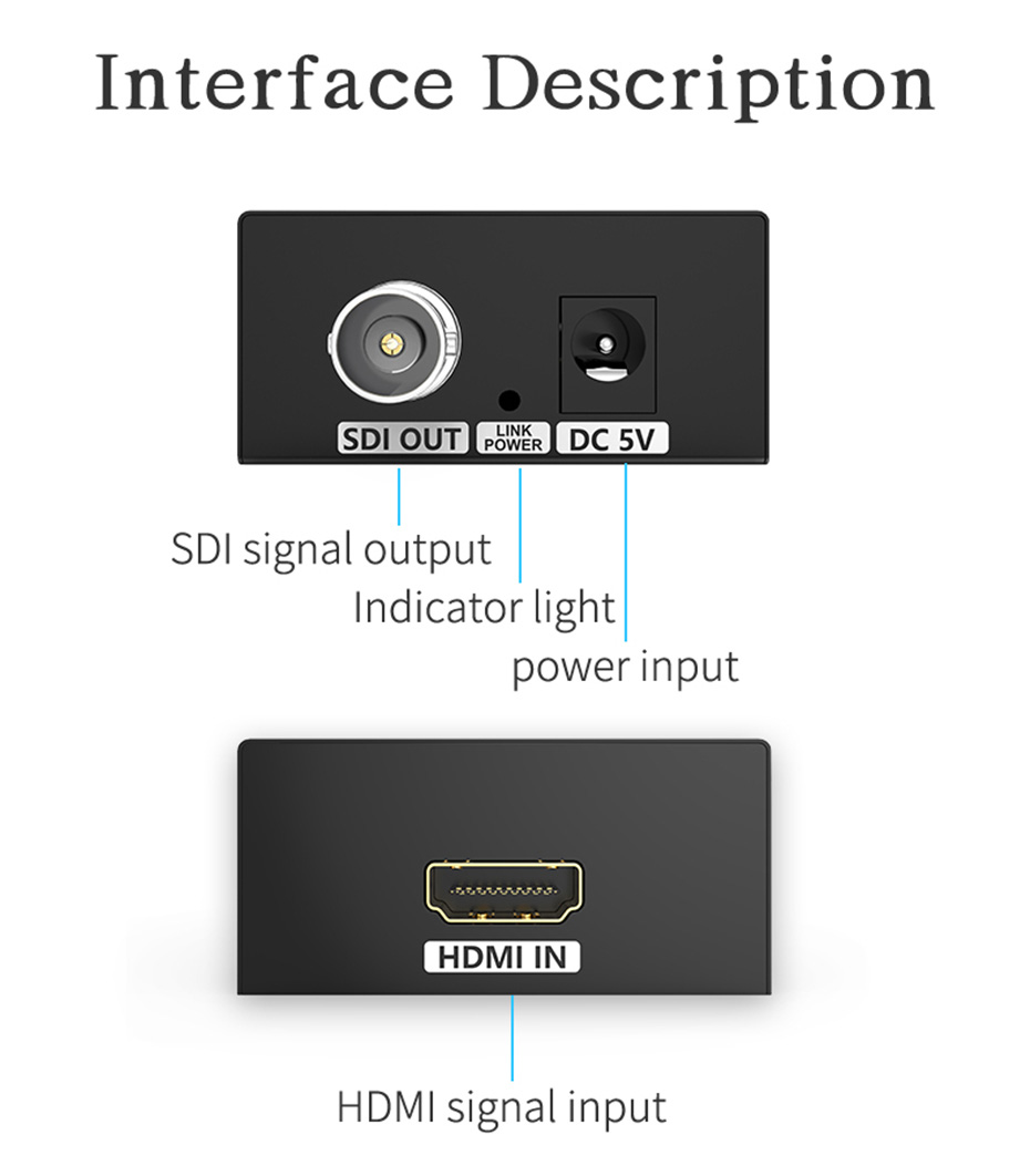 HDMI to SDI HD converter HSD-1 interface description