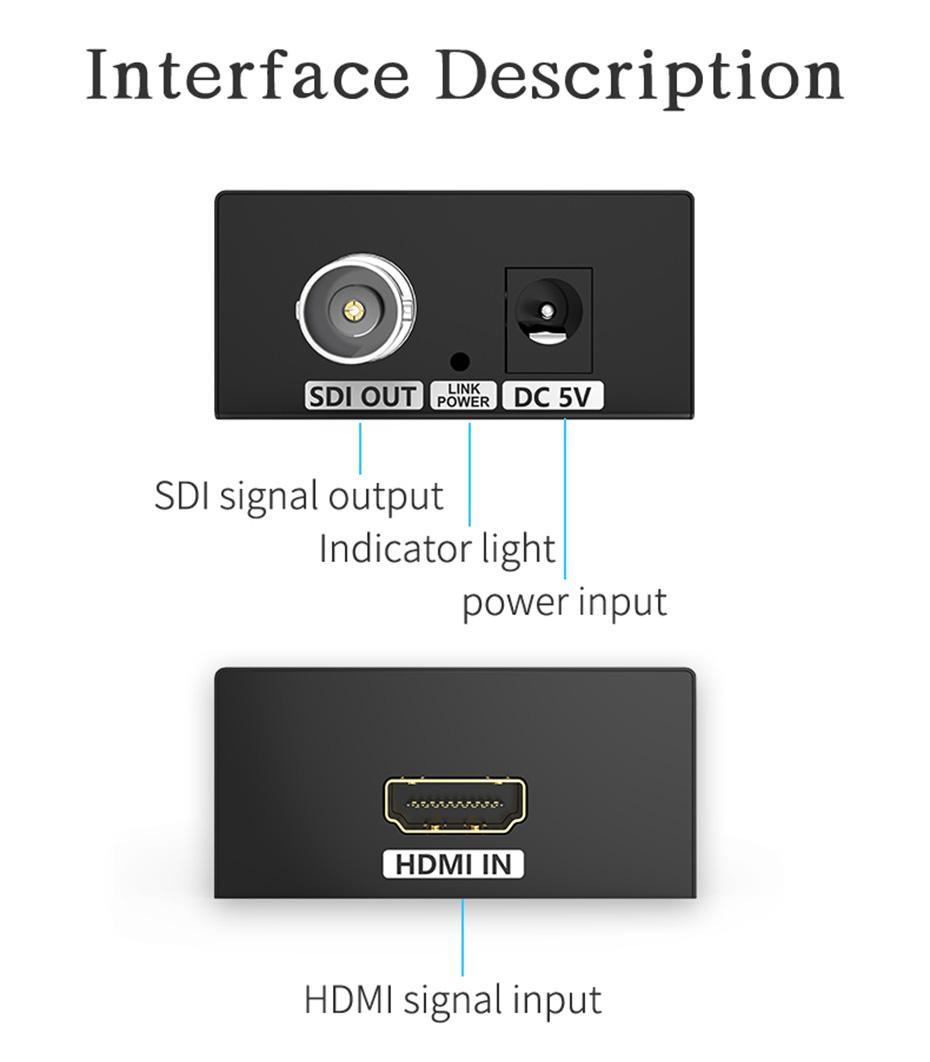 HDMI to SDI HD converter HSD-1 interface description