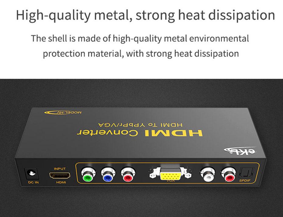 HDMI to VGA/YPbPr converter HV uses metal body