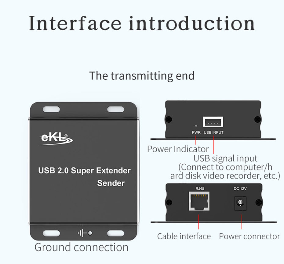 100m USB single network cable extension distributor HUE transmitter interface introduction