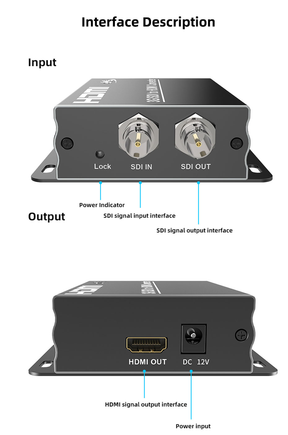 SDI to HDMI converter SDH interface description