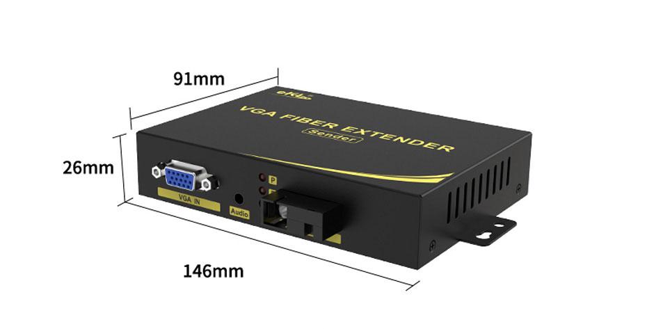 VGA fiber optic extender VF200
