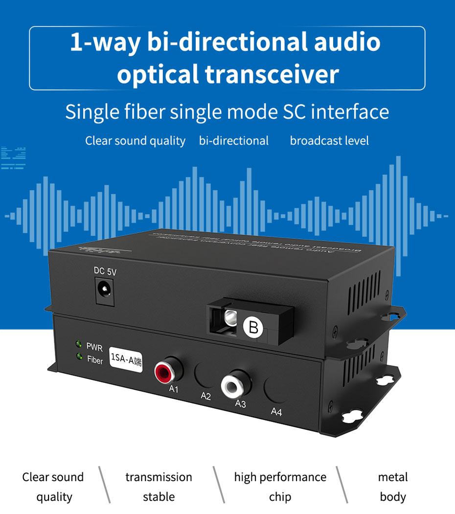 Audio optical transceiver 1SA Single Fiber Single Mode SC Interface