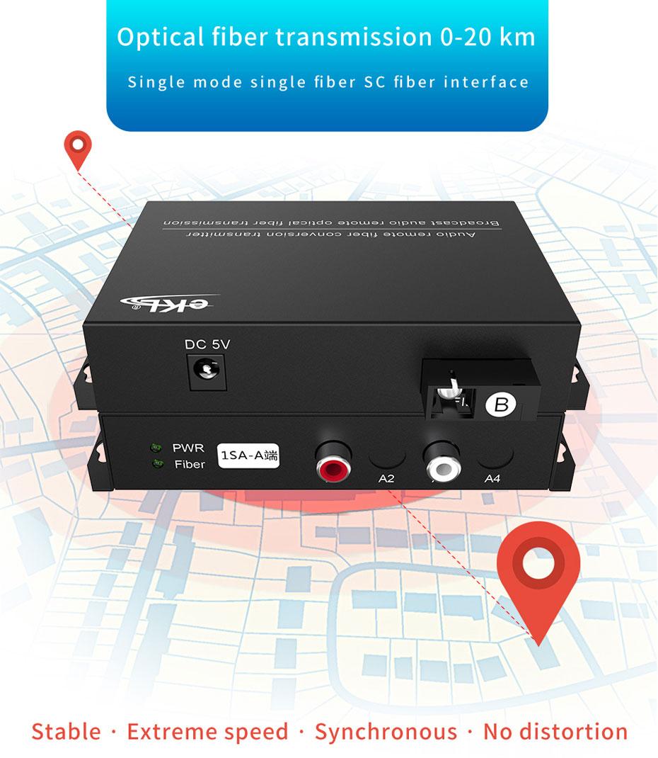 Audio optical transceiver 1SA Optical Fiber Transmission 0-20 km