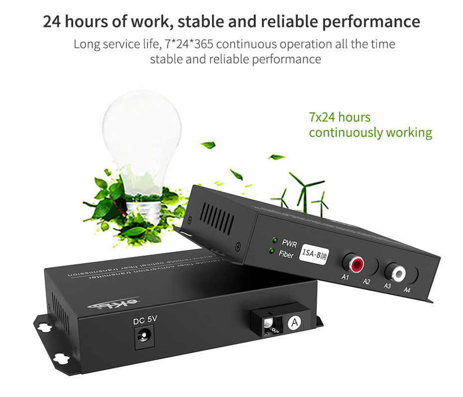 Audio optical transceiver 1SA supports 7*24-hour stable operation