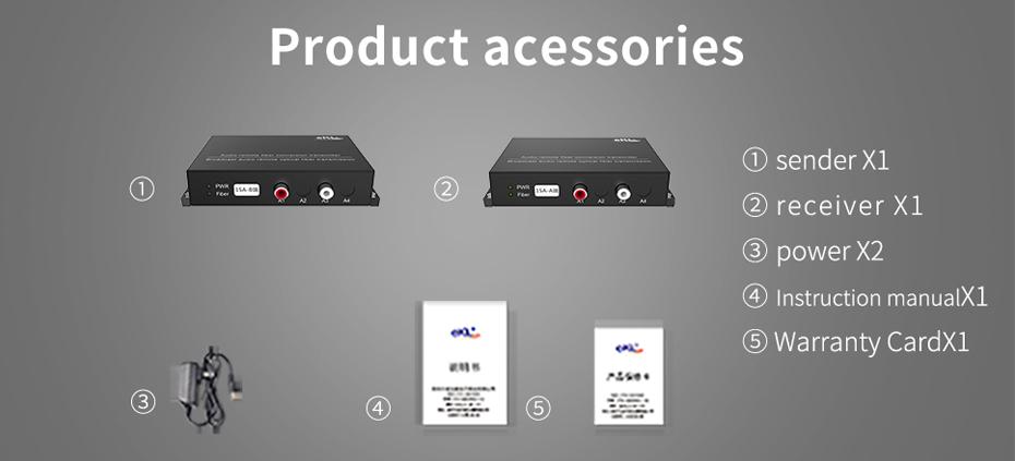 Audio optical transceiver 1SA Standard Accessories