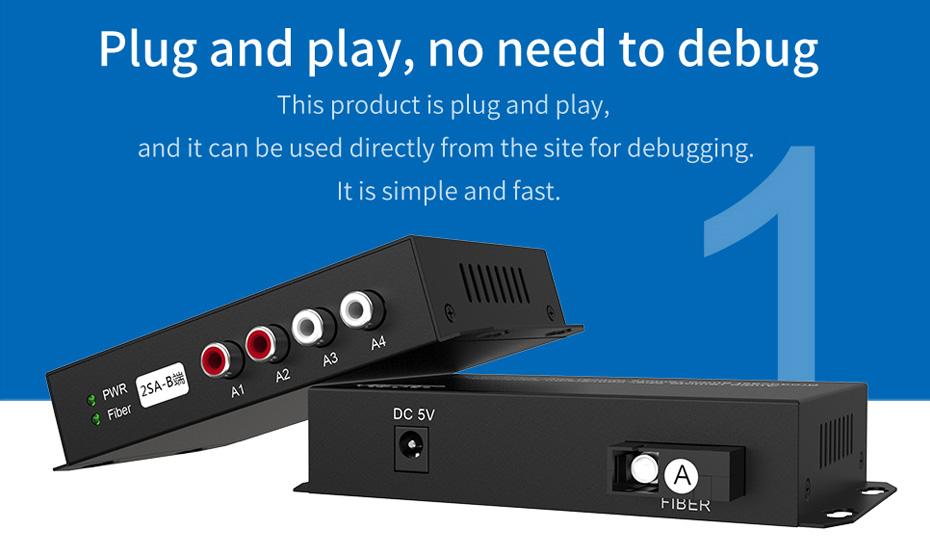 Audio Optical Transceiver 2SA No Debugging Support Plug and Play
