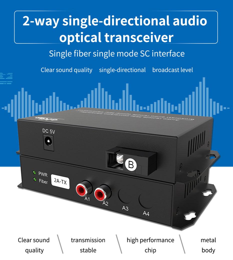 2-way unidirectional audio fiber extender 2ZA
