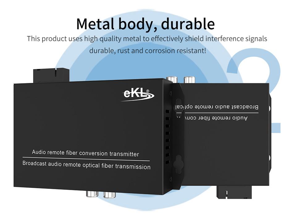 2-way unidirectional audio fiber extender 2za adopts metal body
