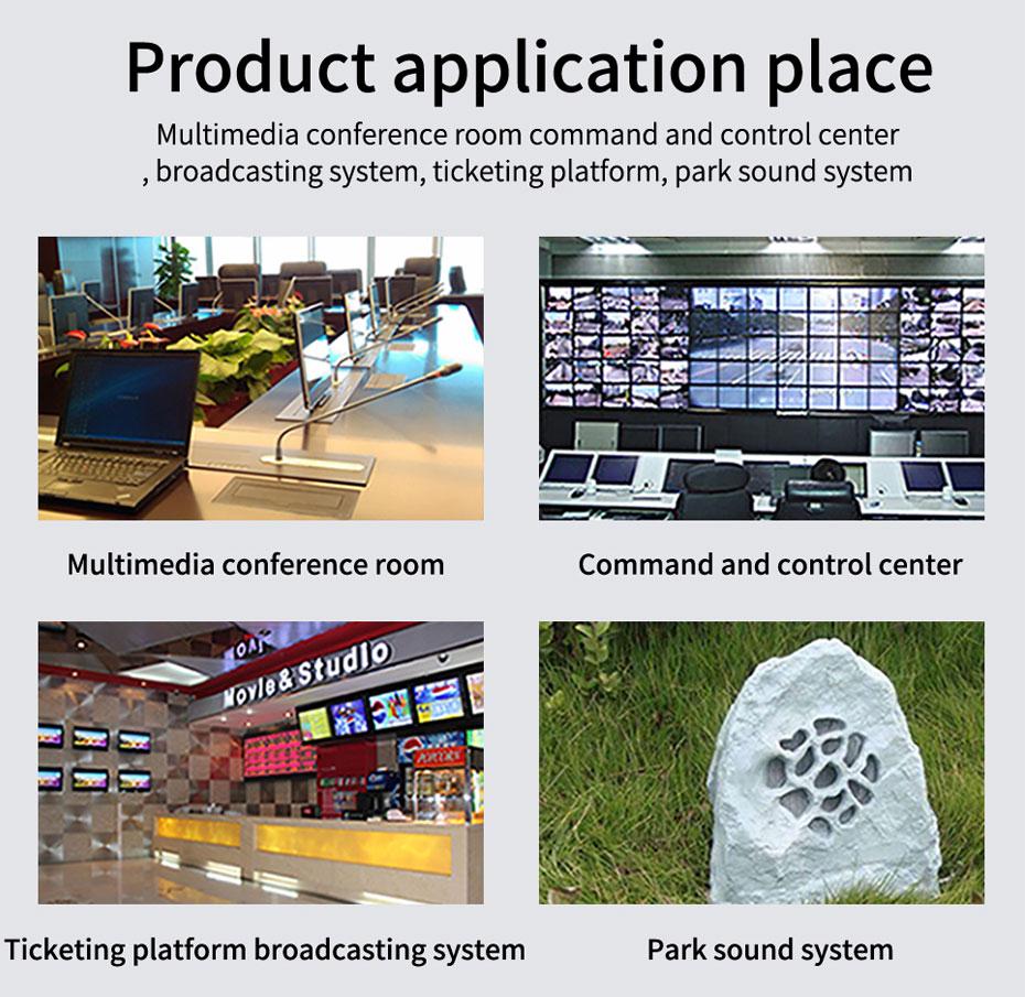 Some application scenarios of 2-way unidirectional audio fiber extender 2za