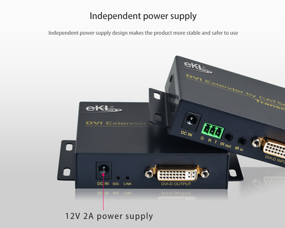 70m DVI single network cable extender DE70 uses independent power supply