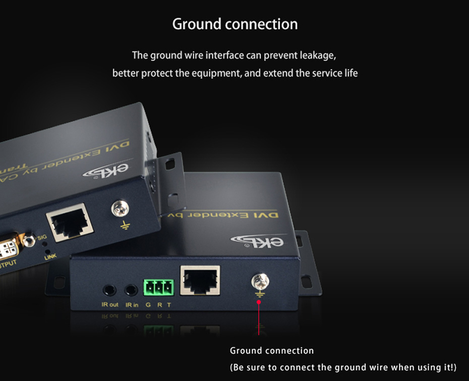 70m DVI single network cable extender DE70 adopts ground connection design