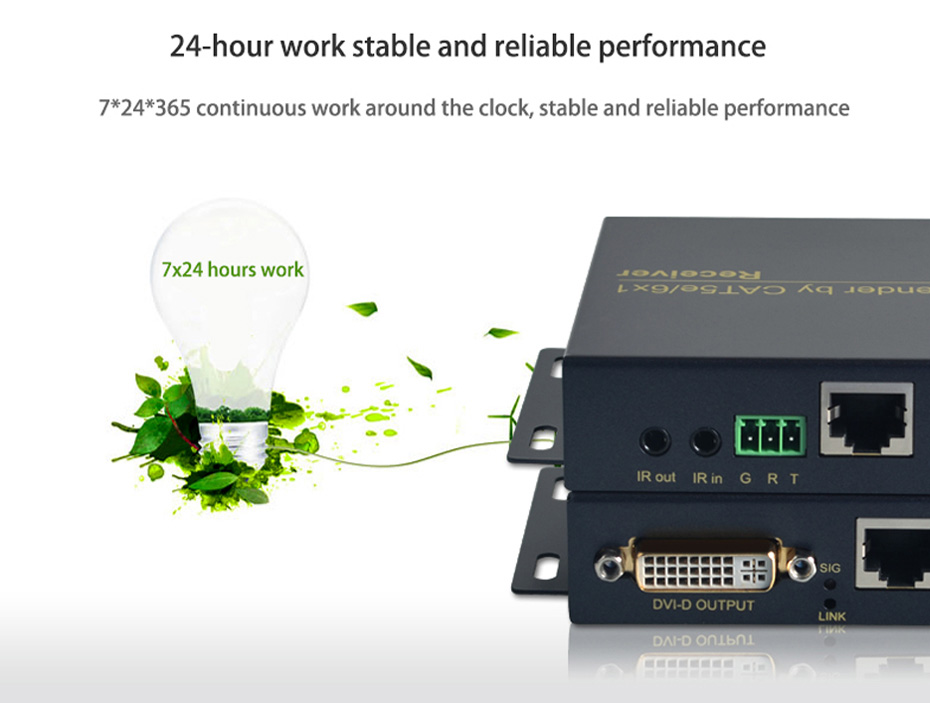 70m DVI single network cable extender DE70 supports 7*24 hours stable work
