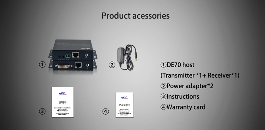 70m DVI single network cable extender DE70 standard accessories