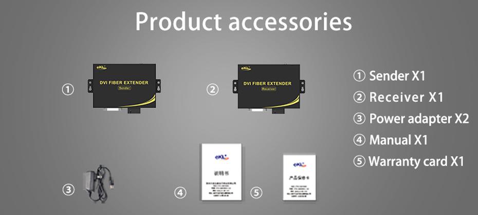 DVI Optical Transceiver DF200 Official Standard Accessories